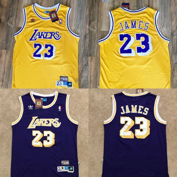 Lebron James Lakers Jersey Throwback NWT